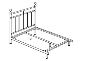 Open Foot Beds include headboard and frame rail