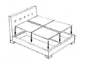 Platform Beds include an upholstered platform