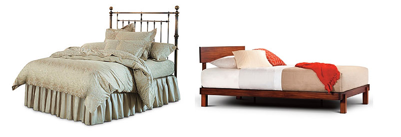 Old and new bed styles