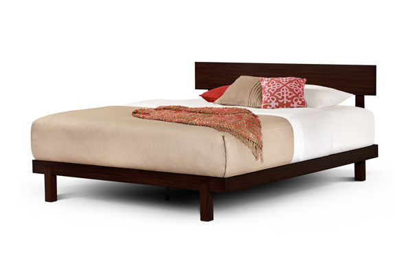 Alana King bed in Dark Brown Mahogany