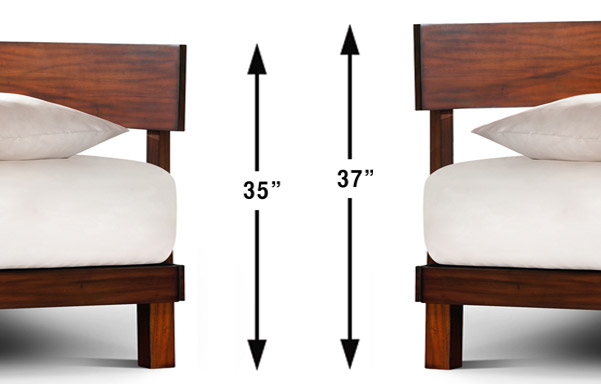 Alana bed headboard multiple mounting heights