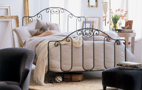 Breton Queen size Hand Forged Iron Bed