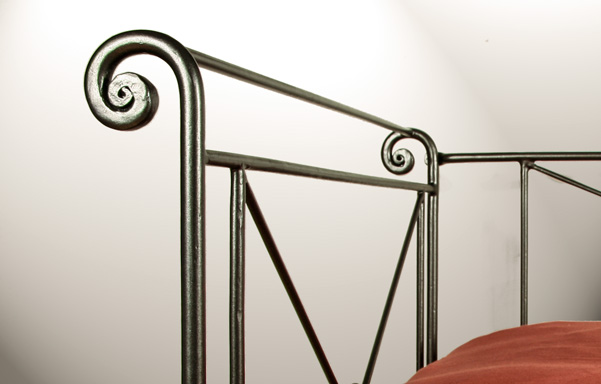 Campaign Daybed hand forged scroll work