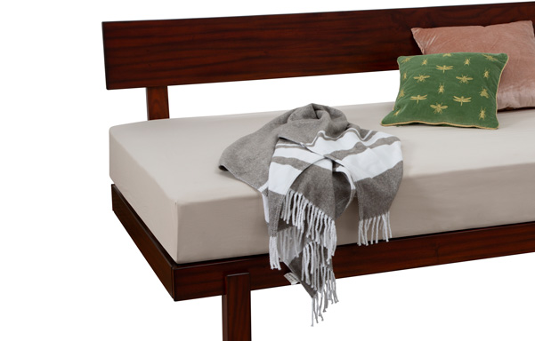Alana Daybed detail in Dark Brown Mahogany