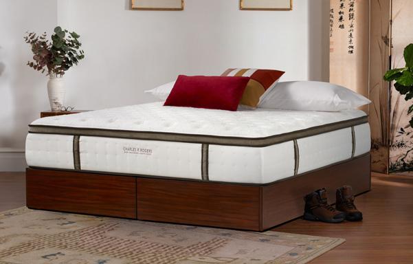 Quad King size Storage platform bed in Medium Mahogany