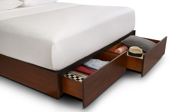 Quad King size platform bed with King size drawers option