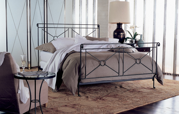 Campaign Queen bed in room set