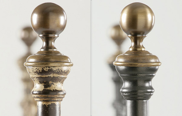 Newfield Solid Brass finials in available finishes