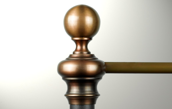 Charleston solid brass finial