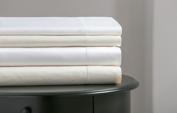 Supima cotton 400 thread count sheet set - Ivory, White