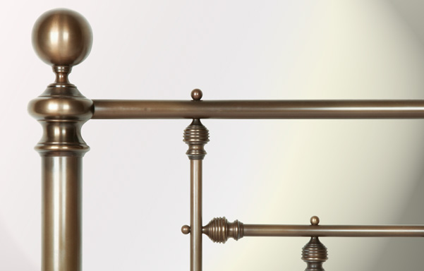 Hyde Park detail in Antique Brass finish