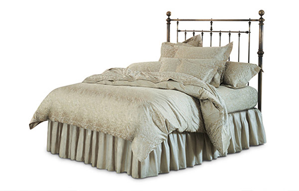 Hyde Park queen headboard antique brass