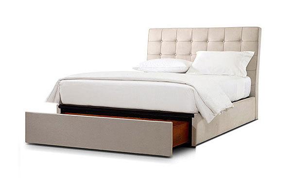 Pavilion queen bed – linen storage option