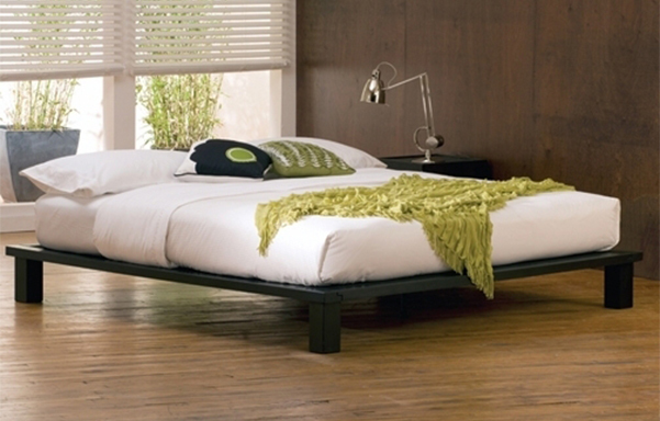 Solide king platform bed – espresso mahogany