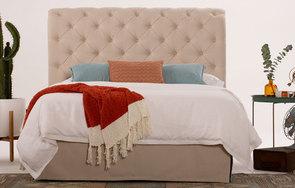 Hampton linen headboard