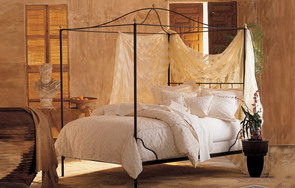 Cairo iron canopy bed with arch top canopy frame