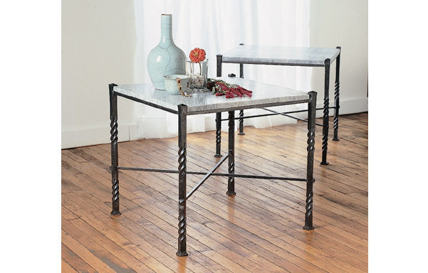 Florentine table with marble top – pair