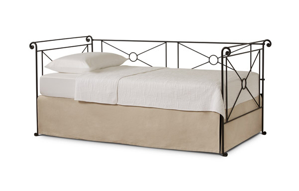 Tailored linen daybed skirt
