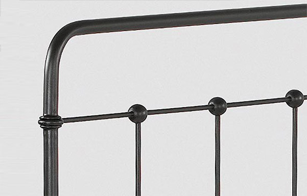 Cottage bed wrought iron headboard detail
