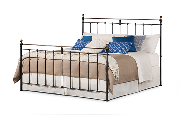 Newfield iron and brass king bed wrought iron