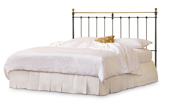 Newfield Iron and Brass King Open Foot Bed - Wrought Iron