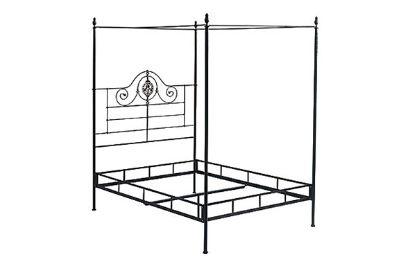 Alexandria canopy bed frame details