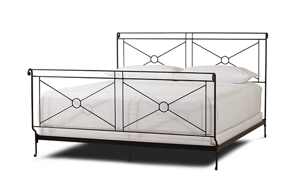 Campaign King size bed in Wrought Iron