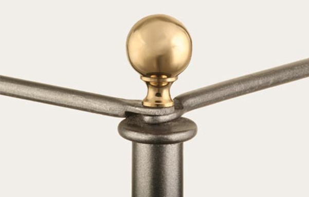 Campaign canopy bed ball finial