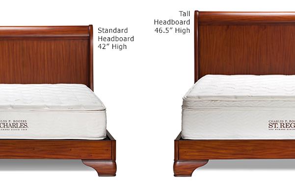 Fainoble sleigh bed height options