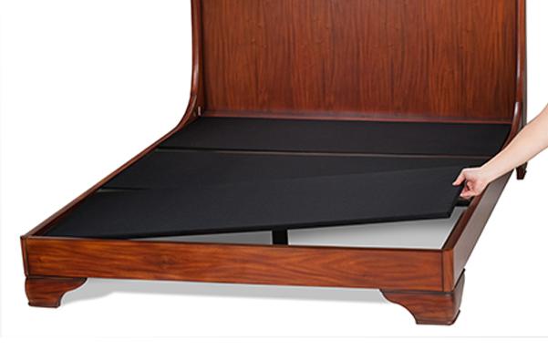 Fairnoble sleigh bed upholstered platform for mattress