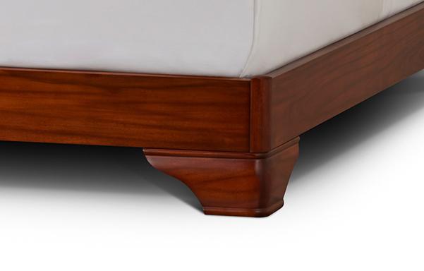 Fairnoble sleigh bed foot and rail detail
