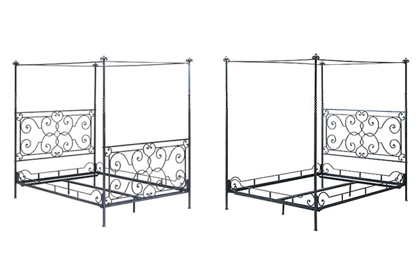 Florentine canopy bed footboard options