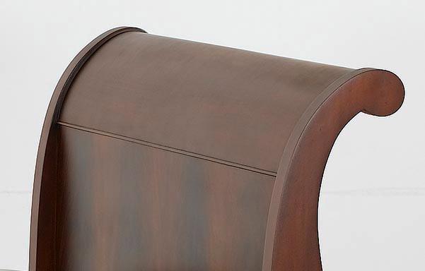 Hamilton mahogany sleigh bed –headboard detail
