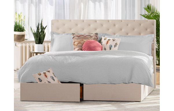 San Diego king bed with storage base option