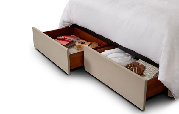 San Diego king storage base drawer detail