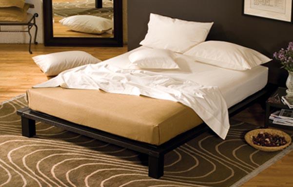 Solide platform bed – espresso mahogany room view