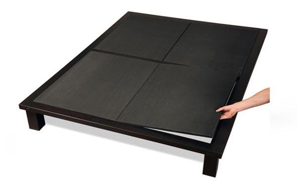 Solide platform bed upholstered deck for mattress