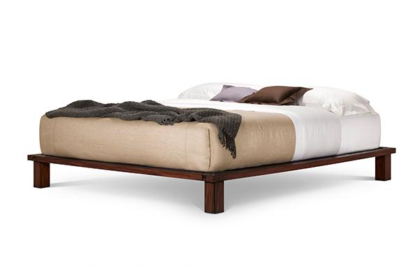 Solide king platform bed – tiger mahogany