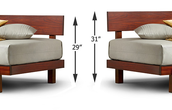Alana daybed multi-mount option height