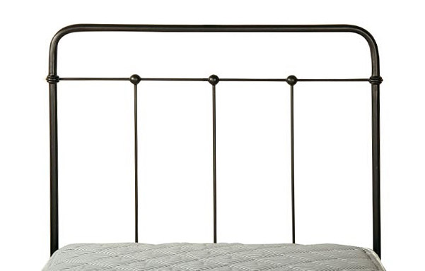 Cottage trundle bed wrought iron finish detail
