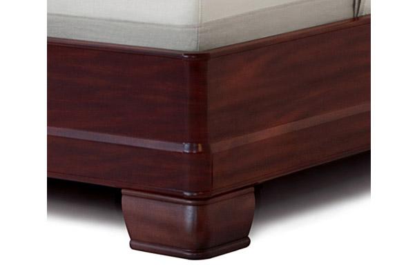 Hampton bed mahogany frame detail