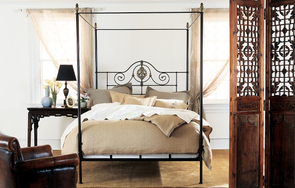 Alexandria iron and brass canopy bed