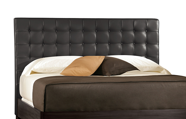 Newhouse king headboard – black leather