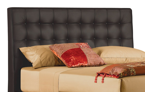 Newhouse queen headboard – black leather