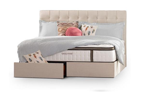 Pavilion king bed – linen storage option