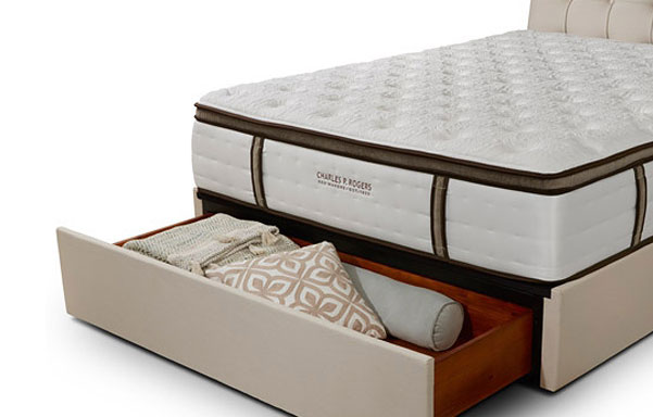 Pavilion bed queen storage option detail