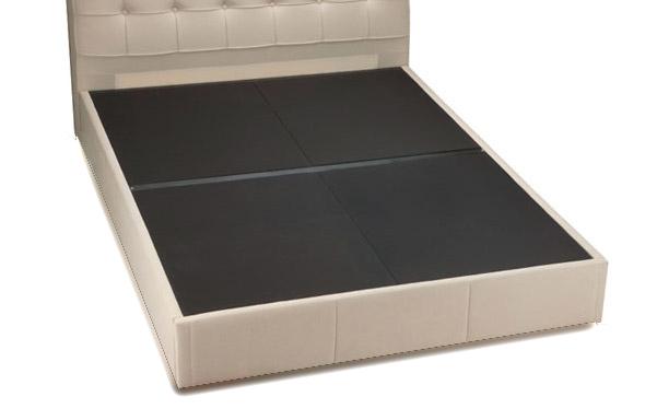Pavilion bed upholstered platform for mattress