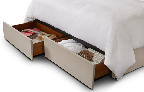 Upholstered Platform Base king size drawer option