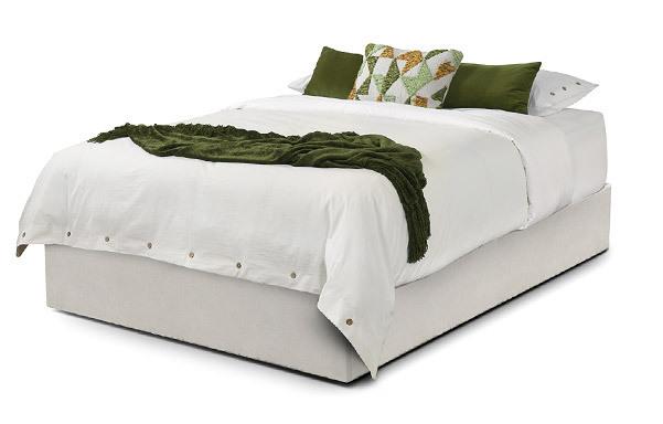 Upholstered Platform Base Queen – natural white