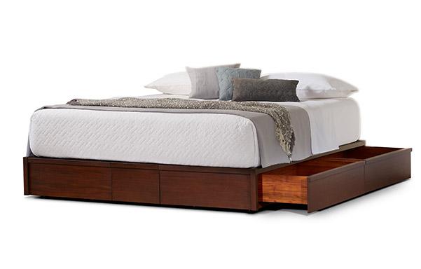 Mahogany storage bed king size
